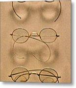 Optometrist - Simple Gold Frames Metal Print by Mike Savad
