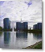 Oracle Buildings In Redwood City Ca Metal Print