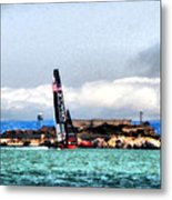 Oracle Team Usa And Alcatraz Metal Print
