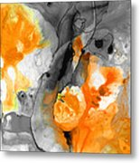 Orange Abstract Art - Iced Tangerine - By Sharon Cummings Metal Print
