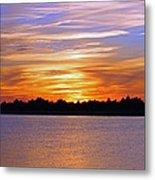 Orange And Blue Sunset Metal Print