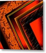 Orange And Brown  Metal Print by Mario Perez
