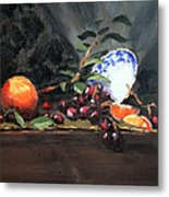 Orange And Grapes Metal Print by Ellen Howell