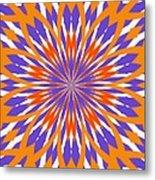 Orange And Purple Kaleidoscope Metal Print