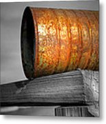 Orange Appeal - Rusty Old Can Metal Print by Gary Heller