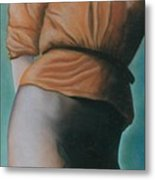 Orange Blouse Metal Print