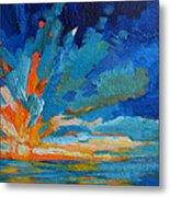 Orange Blue Sunset Landscape Metal Print by Patricia Awapara