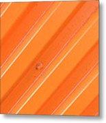 Orange Bolt Metal Print