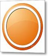 Orange Button Metal Print