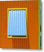 Orange Cabin Metal Print