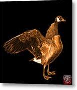 Orange Canada Goose Pop Art - 7585 - Bb  Metal Print