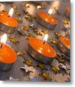 Orange Candles Metal Print