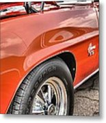 Orange Chevelle Ss 396 Metal Print