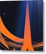 Orange City Metal Print