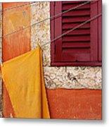 Orange Cloth  Metal Print