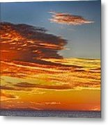 Orange Clouds Metal Print