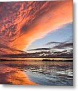 Orange Clouds Over Humboldt Bay Metal Print