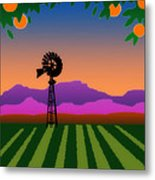 Orange County Metal Print