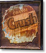 Orange Crush Sign Metal Print