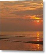 Orange Dawn At Hunting Island State Park Metal Print