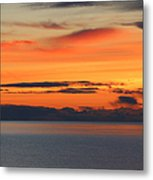 Orange Dawn Rising Metal Print