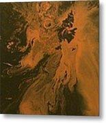 Orange Dragon Metal Print