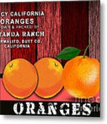 Orange Farm Metal Print