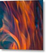Orange Fire Metal Print