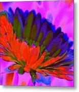 Orange Flower From Side Metal Print