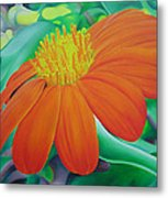 Orange Flower Metal Print