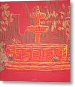 Orange Fountain Metal Print by Marcia Meade