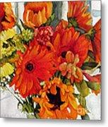 Orange Gerberas Metal Print