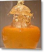 Orange Glass Sculpture Metal Print