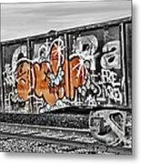 Orange Graffiti Metal Print