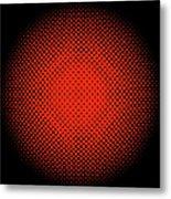 Optical Illusion - Orange On Black Metal Print