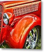 Orange Hood And Fender-hdr Metal Print