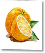 Orange Metal Print by Irina Sztukowski