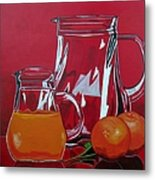 Orange Juggle Metal Print