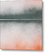 Orange Lake Metal Print