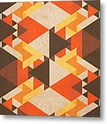 Orange Maze Metal Print