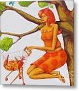 Orange Olga Metal Print