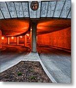 Orange Parking Garage Metal Print
