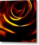 Orange Passion Rose Metal Print