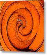 Orange Peal Metal Print