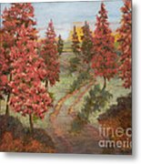 Orange Pines Metal Print