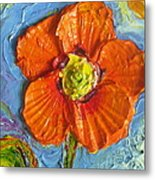 Orange Poppy II Metal Print by Paris Wyatt Llanso