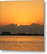 Orange Skies Metal Print