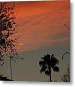 Orange Skies Metal Print