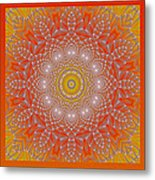 Orange Space Flower Metal Print by Hanza Turgul