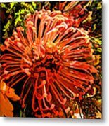 Orange Spice Floral  Metal Print